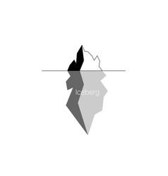 Iceberg icon isolated on white background vector