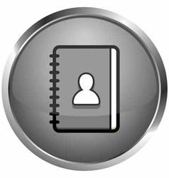 icon diary vector image