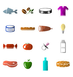 image of set of icons of departments in a vector image