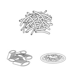 isolated object of pasta and carbohydrate logo vector image