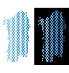 Italian sardinia island map hex-tile scheme vector