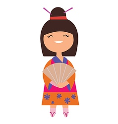 Japan girl character vector image