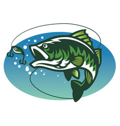 Largemouth bass fish mascot vector