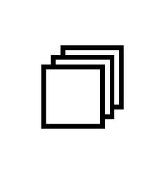 Layers icon page symbol vector