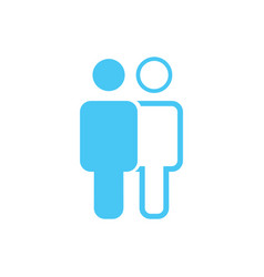 linear and flat man and woman icon simple flat vector image