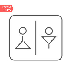 man and lady toilet sign symbol in simple design vector image