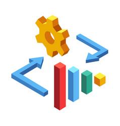 marketing management isometric vector image