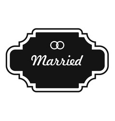 Married label icon simple style vector