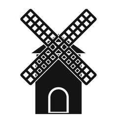 Mill icon simple style vector image