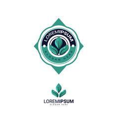 Modern leaf logo design template for business vector