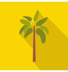 Palm plant tree icon flat style vector