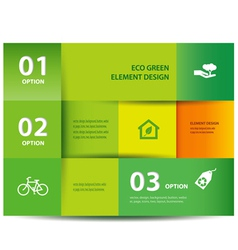 Paper eco element and numbers design vector