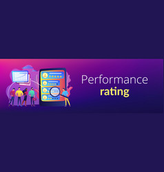 Performance rating concept banner header vector