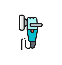 polishing machine flat color line icon isolated vector image