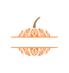 pumpkin mandala monogram template isolated vector image