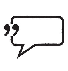 Quotation mark speech bubble sign icon design vector