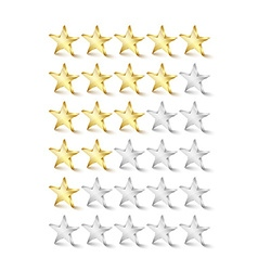 Rating stars vector