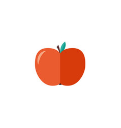 red fresh ripe apple for dieting healthy eating vector image