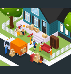 Relocation isometric composition vector