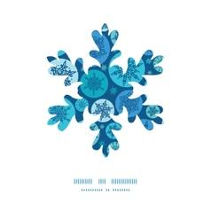 round snowflakes Christmas snowflake vector image