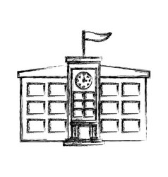 School building symbol vector