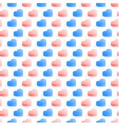 seamless isometric pattern geometric flat blue vector image