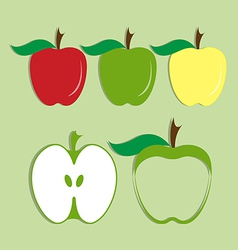 Set of apple icon vector