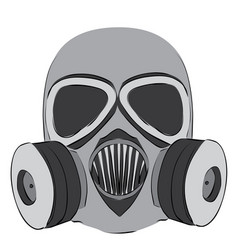 Simple gas mask vector