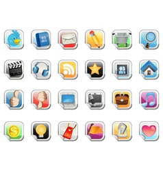 social media sticker icon vector image
