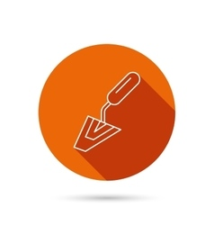 Spatula icon Finishing repair tool sign vector