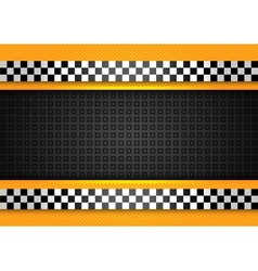taxi cab background racing blank template vector image