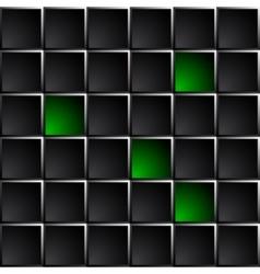 Technological dark background polished black and vector image