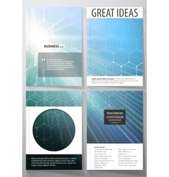 Templates for brochure magazine flyer or report vector image