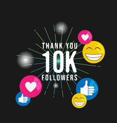Thank you 10k followers banner social media vector