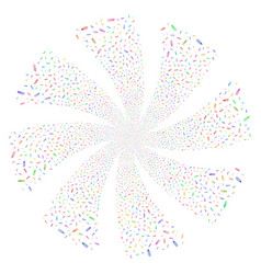 Thermometer fireworks swirl rotation vector