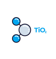 Titanium dioxide molecule icon vector