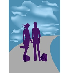 Travel He and she vector image