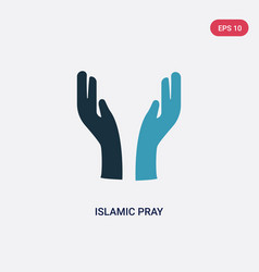 two color islamic pray icon from religion-2 vector image