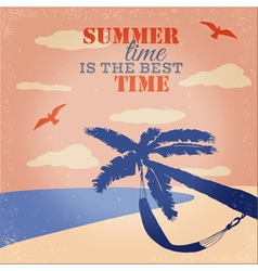 Vintage Beach and Summer Poster vector