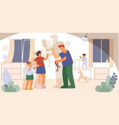 Violence in family composition vector