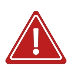 Warning alert sign road triangle vector