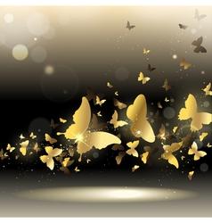 Whirlwind of butterflies vector