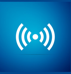 wi-fi network symbol icon on blue background vector image