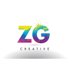 Zg z g colorful letter origami triangles design vector