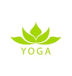 abstract green lotus flower logo design vector image