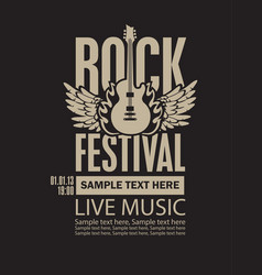 billboard for rock festival live music vector image