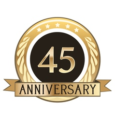 Forty Five Year Anniversary Badge vector image vector image