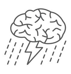 brainstorm thin line icon development vector image vector image