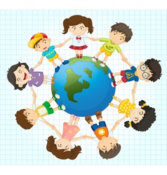 Global diversity vector image vector image