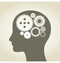 Head a gear wheel vector image vector image